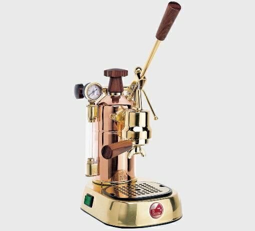 コーヒーマシン エスプレッソ コーヒーメーカーLa Pavoni( ラ・パボーニ )「 プロフェッショナル PRG 」(銅・18金メッキタイプ)正規輸入品・送料無料