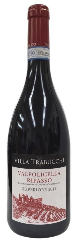 【イタリアワイン】《 Trabucchi d'illasi 》【 Valpolicella Superiore DOC Ripasso Villa Trabucchi 2011 】トラブッキ ディッラージヴァルポリチェッラ スペリオーレ リパッソ ヴィッラ トラブッキ 2011750ml (赤ワイン)