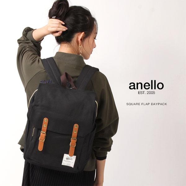 anello/アネロ ダブルフラップリュック / スクエア ミニバックパック/リュックサック リュック