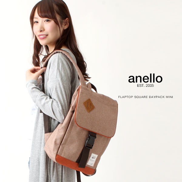 anello/アネロ フラップトップ スクエア デイパック ミニ/リュックサック リュック