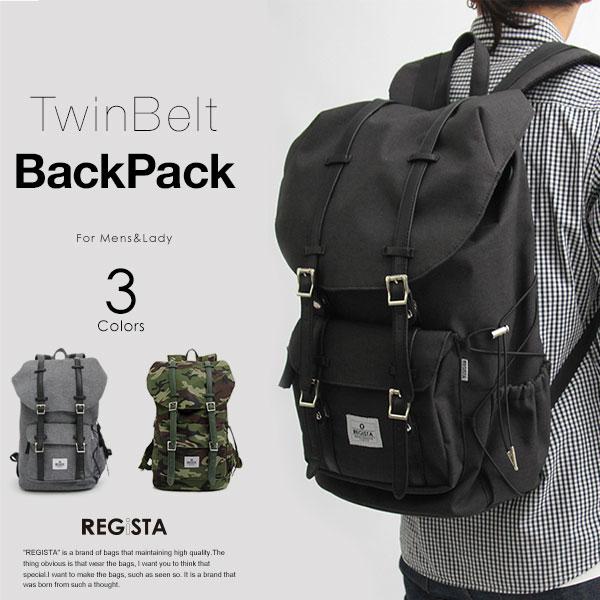 TwinBeltBackPack/ツインベルト フラップトップ バックパック