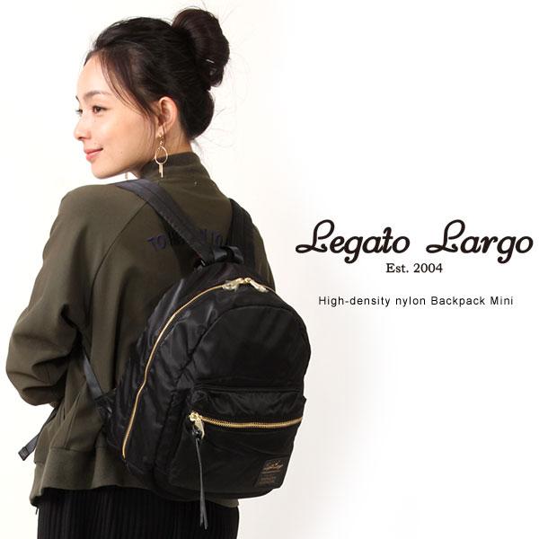Legato Largo/レガートラルゴ ナイロン バックパック ミニサイズ 高密度ナイロン リュックサック