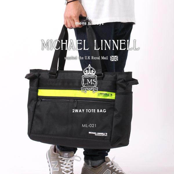 MICHAEL LINNELL/マイケルリンネル ML-021 リフレクター 2WAY トートバッグ ショルダーバッグ ビジネスバッグ