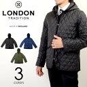 LONDON TRADITION/ロンドントラディション フーデッド キルティング コート ジャケット ブルゾン イギリス製 メンズ MEN-002