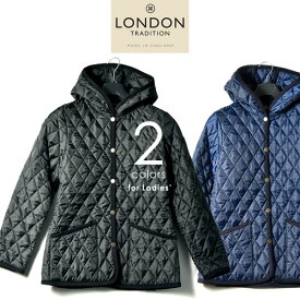 LONDON TRADITION ロンドントラディション フーデッド キルティング コート ジャケット ブルゾン イギリス製 レディース WO-002