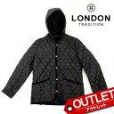 【アウトレット】LONDON TRADITION ロンドントラディション フーデッド キルティング コート メンズ MEN-002