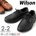 Wilson ウィルソン モカシン カジュアルシューズ スリッポン サイドファスナーレースアップ EEEE