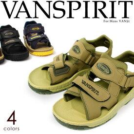 VAN SPIRIT/ヴァンスピリット サンダル 屈曲性 3E カジュアル スポーツ メンズ 黒 紺 51