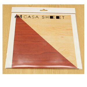 【お買い得品】カモ井加工紙 マスキングテープ mt CASA SHEET 壁用 230mm角 木目 3枚パック MT03WS2313