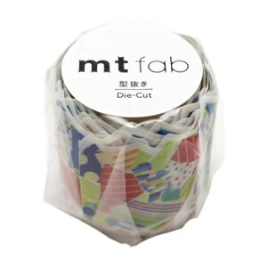 【お買い得品】カモ井加工紙 マスキングテープ mt fab 型抜きちぎった紙 テープ幅45mm×3m巻 MTKT1P19
