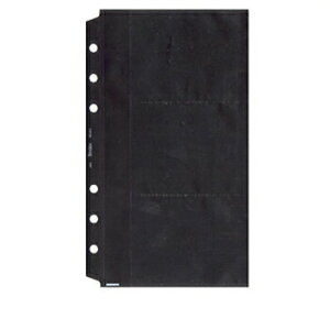【お買い得品】日本能率協会 バインデックス システム手帳リフィルバイブルサイズ名刺ホルダー2(薄型タイプ) 513