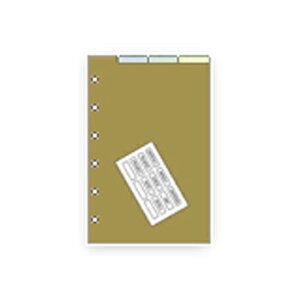 【お買い得品】レイメイ藤井 システム手帳リフィル ダヴィンチ ポケットサイズ(mini6) カラーインデックス 4クブン DPR262・15個までメール便可