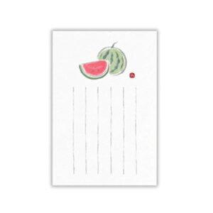 ▲夏柄 サマーポストカード 【和紙墨絵すいか】 ホールマーク SCP-671-273