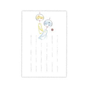 ▲夏柄 サマーポストカード 【和紙墨絵風鈴】 ホールマーク SCP-688-363