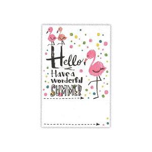 ▲夏柄 サマーポストカード 【UVフラミンゴ】 ホールマーク SCP-705-695