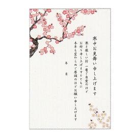 寒中ポストカード 【梅ピンク】 4枚入り 学研ステイフル S20-854