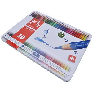 カランダッシュ CARAND'ACHE 色鉛筆 ファンカラー 水溶性色鉛筆 1288-330 ファンカラー30色セット<缶入>【 プレゼント 父の日 母の日 ギフト 】【ペンハウス】 (5700)