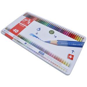 カランダッシュ CARAND'ACHE 色鉛筆 ファンカラー 水溶性色鉛筆 1288-340 ファンカラー40色セット<缶入>【 プレゼント 父の日 母の日 ギフト 】【ペンハウス】 (7600)