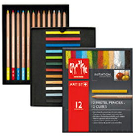 カランダッシュ パステル パステルペンシル&パステルキューブセット 7880-412 イニシエーションセット紙箱入 12色+12色 CARAND'ACHE 色鉛筆 色鉛筆セット クレヨン プレゼント 画材 画材セット