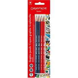 カランダッシュ スクールライン 鉛筆 341-704 4本セット ブリスターパック 【ペンハウス】(400)