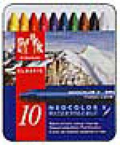 カランダッシュ CARAND'ACHE パステル ネオカラーII 7500-310 10色(缶入)【 プレゼント ギフト 】【ペンハウス】 (2600)