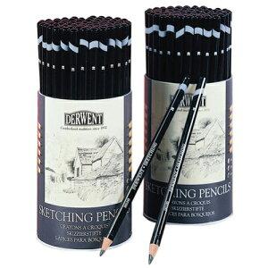 ダーウェント 鉛筆 スケッチングペンシル 72本セット(3硬度各24本入り) ラウンドタブ 34345 DERWENT えんぴつ 4B 2B HB プレゼント ギフト スケッチ デッサン イラスト 絵 画材 画材道具