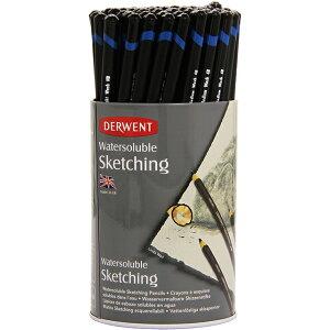 ダーウェント 鉛筆 ウォータ−ソリュブル・スケッチングペンシル 72本セット(3硬度各24本入り) ラウンドタブ 34344 DERWENT えんぴつ 4B 8B HB プレゼント スケッチ デッサン イラスト 絵 画材 画材