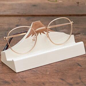 デスクアクセサリー 富士山 スマホ&メガネスタンド 026-202 白富士 眼鏡 メガネ置き スマホスタンド 卓上 おしゃれ おもしろ ユニーク 雑貨 小物 置物 デザイン シンプル ギフト プレゼント