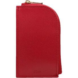 dunn(デュン) コイン&カードケース DCC02 レッド ちいさい 小さい財布 さいふ さいふ カード入れ コインケース おしゃれ シンプル 女性 男性 ギフト プレゼント 父の日 母の日