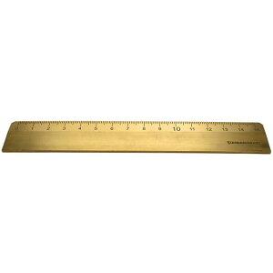 アイデア文具・雑貨 スタンダードグラフ 真鍮定規 15cm SG-951015 定規 スケール おしゃれ かっこいい シンプル