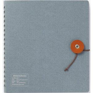 kleid(クレイド) ストリングタイ ノートブック 02 グレー 8954 ノート 方眼 かわいい 可愛い 大人可愛い おしゃれ 文房具