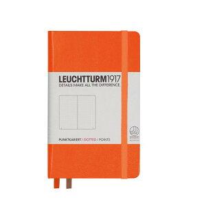 ロイヒトトゥルム  ノートブック  A6  ドット方眼 オレンジ 342933 LEUCHTTURM ノート 小さいノート ポケットサイズ 方眼 かわいい 可愛い 大人可愛い おしゃれ 文房具