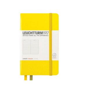 ロイヒトトゥルム  ノートブック  A6  横罫  レモン 344794 LEUCHTTURM ノート 小さいノート ポケットサイズ かわいい 可愛い 大人可愛い おしゃれ 文房具