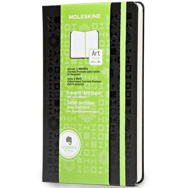 【 今だけ!ポイント10倍 】モレスキン Evernote スケッチブック 408689 SKLSKETCHEVER ドット方眼ノートブック ラージサイズ  ブラック 「ブランド」「デザイン文具」【 プレゼント ギフト 】【万年筆・ボールペンのペンハウス】 (3800)
