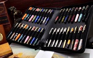 Pent〈ペント〉byセーラー万年筆特別生産品本革製ジッパーペンケース40本挿しストレージ〜Storage〜ブラック