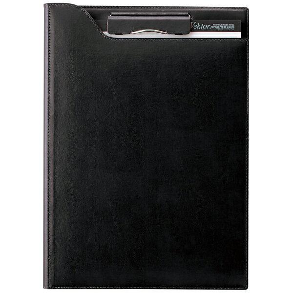 レイメイ藤井 A4サイズ ツァイトベクター クリップファイル(再生皮革製) ZVF654B ブラック 【ラッピング無料】【 プレゼント ギフト 】【万年筆・ボールペンのペンハウス】 (6500)