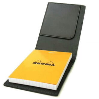 Rhodia Notes cover Block Rhodia Leather cover No.11 black