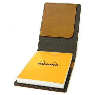 Rhodia Memo cover Block Rhodia Leather Cover No.11 Camel