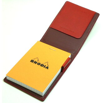 Rhodia Memo cover Block Rhodia Leather Cover No.11 Red