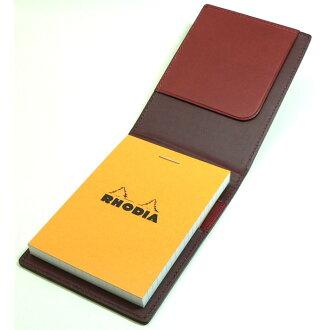 Rhodia Memo cover Block Rhodia Leather Cover No.11 WineRed