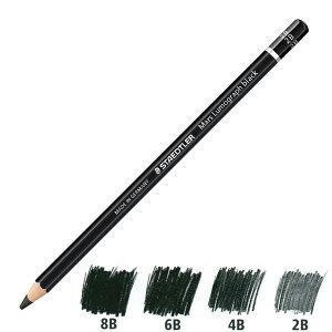 ステッドラー 鉛筆 マルス ルモグラフ ブラック 描画用高級鉛筆 100B 1ダース(12本入り) 【 プレゼント 父の日 ギフト 】(2400)