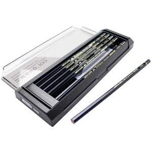 トンボ鉛筆 鉛筆 MONO(モノ) モノ100 1ダース MONO100 TOMBOW 鉛筆 えんぴつ 9H 8H 7H 6H 5H 4H 3H 2H H HB 3B 2B 4B 5B 6B B F 製図 デッサン プレゼント 父の日 母の日