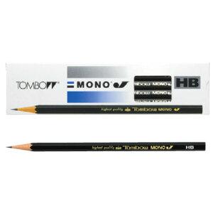 トンボ鉛筆 鉛筆 MONO(モノ) モノJ 1ダース MONO-J TOMBOW 鉛筆 えんぴつ 4H 3H 2H H HB 3B 2B 4B B 事務用 学習用 プレゼント 父の日 ギフト