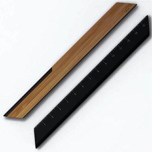 TA+d(トレアジアデザイン) One2 バンブー レターオープナー BD-080201 ブラック 定規 15cm おしゃれ シンプル ペーパーナイフ ギフト プレゼント