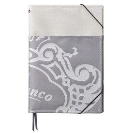 トライストラムス Orobianco〈オロビアンコ〉 ノートカバー THVKN10C シルバー A5 外ポケット付 【 プレゼント ギフト 】【ペンハウス】 (3000)