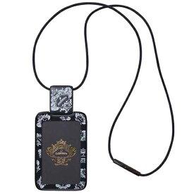トライストラムス Orobianco〈オロビアンコ〉 IDカードホルダー ハードケース・リール付き THV-MG05D ストラップ縦・ブラック 【 プレゼント ギフト 】【ペンハウス】 (3000)