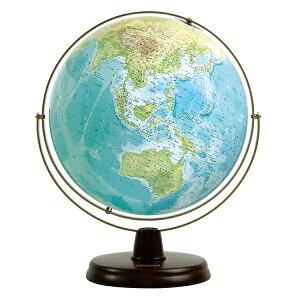 ワタナベ(渡辺教具製作所) 地球儀 衛星地形地球儀 WP W-3300 木台 【 プレゼント ギフト 】(28000)