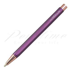 IWI(台湾) ゲルインクボールペン ツールヘックス(tool Hex) 8F990BP ベリーパープル 6RG<1000>【名入れ有料】【ラッピング不可】【メーカー保証】【ペンタイム】