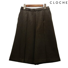 CLOCHE(クロッシェ) キュロットパンツ ショートパンツ スカート見え タック入り 大人キュロット 膝丈キュロット 膝丈