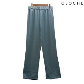 CLOCHE(クロッシェ) イージーパンツ 光沢感と落ち感 ウエスト総ゴム ストレスフリー テロっとしたパンツ 合わせやすいパンツ
